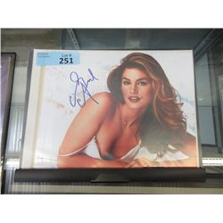 Certified Cindy Crawford Autographed Photo