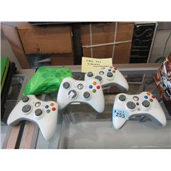 5 Xbox 360 Wireless Controllers