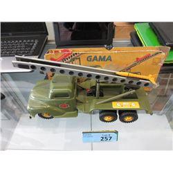 Vintage German Gama Die-Cast Rocket Launcher