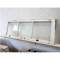 "Vintage 20 x 54"" Wood Framed Window"