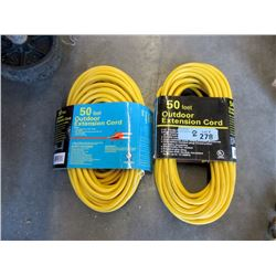 Two 50 Foot Outdoor Extension Cords