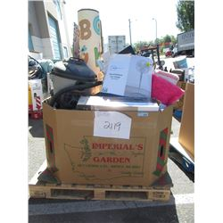 Skid of Assorted Store Return & Used Merchandise