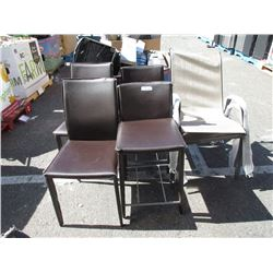 2 Patio and 4 Assorted Chairs - Store Returns
