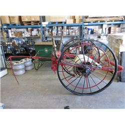 1890's Fire Fighters Horse Drawn Hose Reel Cart