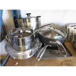 9 Pieces of Assorted Store Return Pots & Pans