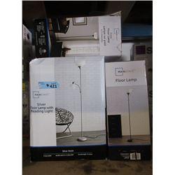 4 Store Return Floor Lamps