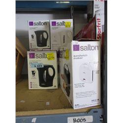 Salton Sandwich Maker & 5 Electric Kettles