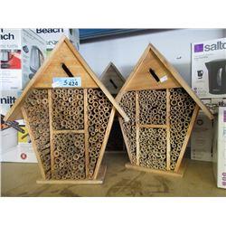 3 Mason Bee Houses