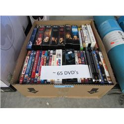 "65 DVD Movies - Includes Boxed Sets of ""Buffy"""