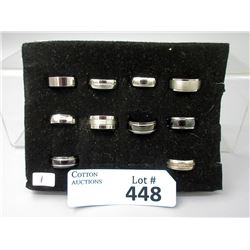 10 New Titanium Band Rings - Sizes 7, 7.5 and 8