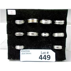 10 New Tungsten Band Rings - Sizes 7 to 13