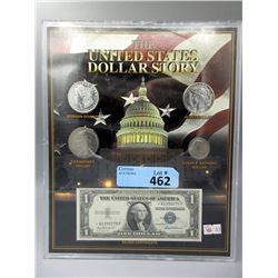 5 Piece US One Dollar Collection in Sealed Case