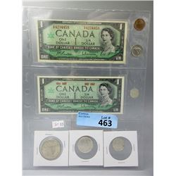 8 Piece 1967 Canadian Centennial Currency Set