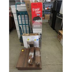 Shop Light, Night Stand & 2 End Tables