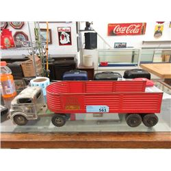 1950s Structo Steel Cargo Semi-Truck & Trailer