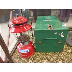 Vintage Coleman Lantern with Metal Case