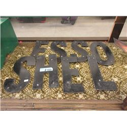 "Nine 11 x 5"" Letters that Spell ""SHEL and ""ESSO"""