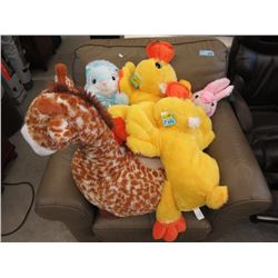 5 Assorted Large Stuffed Animals
