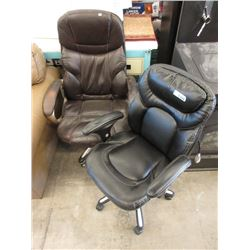 2 Leather Office Chairs - Store Returns