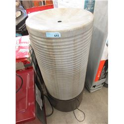 Ribbed Tower Cast Cement Outdoor Water Fountain