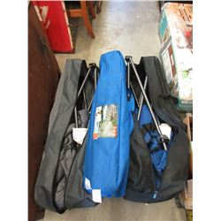 Cot & 2 Folding Camp Chairs