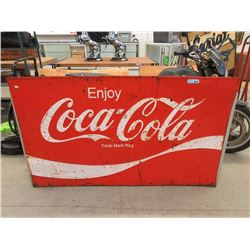 Large Vintage 1970s Embossed Steel Coca-Cola Sign