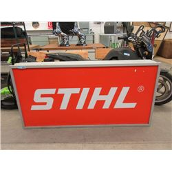 Large Illuminated STIHL Advertising Sign