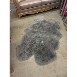 Large Grey Sheepskin Carpet