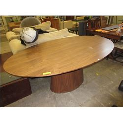 Oval Walnut Coloured Table - Floor Model