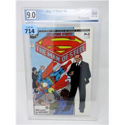 "Graded 1986 ""Man of Steel #4"" DC Comic"