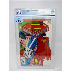 "Graded 1986 ""Man of Steel #5"" DC Comic"
