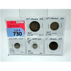 1919 Canadian Coin Set with .925 Coins