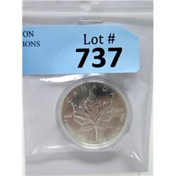 1994 One Troy Oz. Fine Silver $5 Maple Leaf Coin