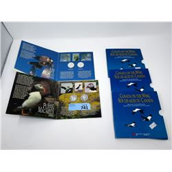 Birds of Canada- .925 Silver 50¢ Four Coin Set