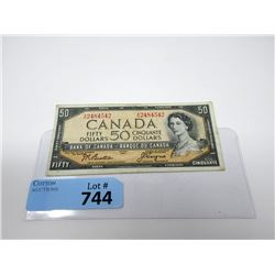 1954 Canadian $50 Bill