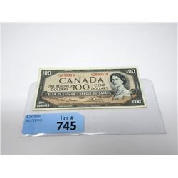 1954 Canadian $100 Bill