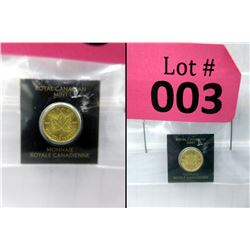 1 Gram. .9999 Gold 2019 Maple Leaf Coin