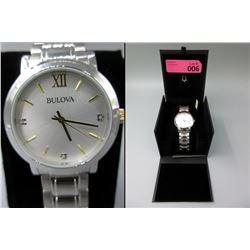 New in Box Diamond Men's Bulova Watch