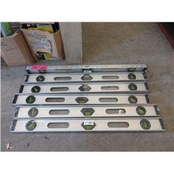 6 New 2 Foot Aluminum Levels