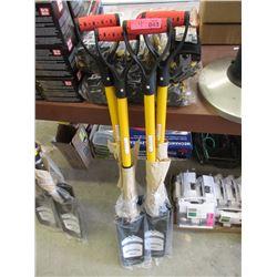 4 New D-Handle Drain Spades