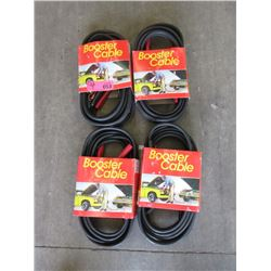 4 Sets of New 12 Foot Booster Cables