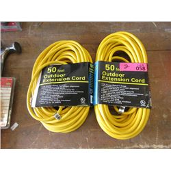 2 New 50 Foot Extension Cords