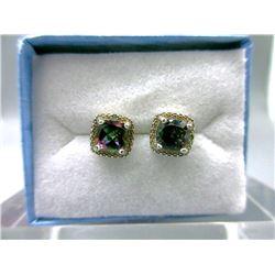New Mystic Topaz & Diamond Stud Earrings