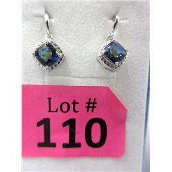 New Mystic Topaz & Diamond Dangle Earrings