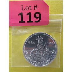 1 Oz. 1984 Engelhard .999 Fine Silver Round