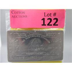 1 Oz. Australia Mint .999 Fine Titanium Bar