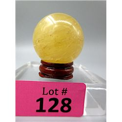 466 CT Carved Healing Citrine Gemstone Orb