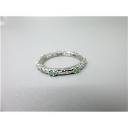 Sterling Silver Emerald Band Ring