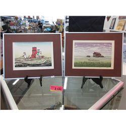 Pair of Weber Ltd. Edition Prairie Prints