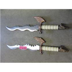 Pair of Dragon Hilt Fantasy Knives